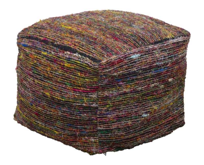 Puf Madagascar, 40x50x50 cm, bumbac, multicolor poza
