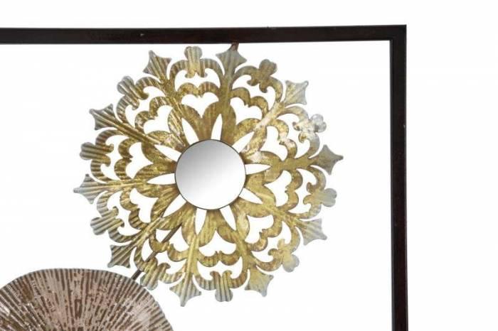 Decorațiune de perete Gliss, 90x31x2.5 cm, metal, auriu/ cupru