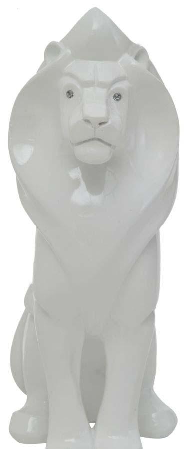 Decorațiune Leone, 39.5x26x12 cm, rasina, alb