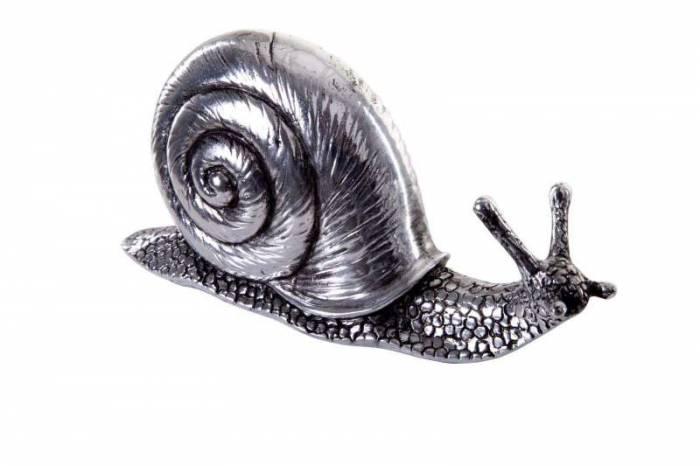 Decorațiune Lumaca, 11.5x23x7.5 cm, rasina, argintiu