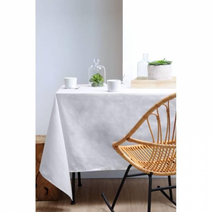 Față de masă din bumbac albă Aquitane Blanc 155x155 cm