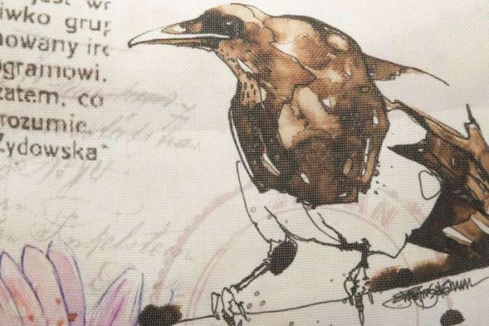 Față de pernă Bird, 40x40 cm, textil, multicolor