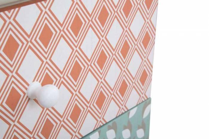 Noptieră Auntdeco, 55.5x43.5x38 cm, mdf, multicolor