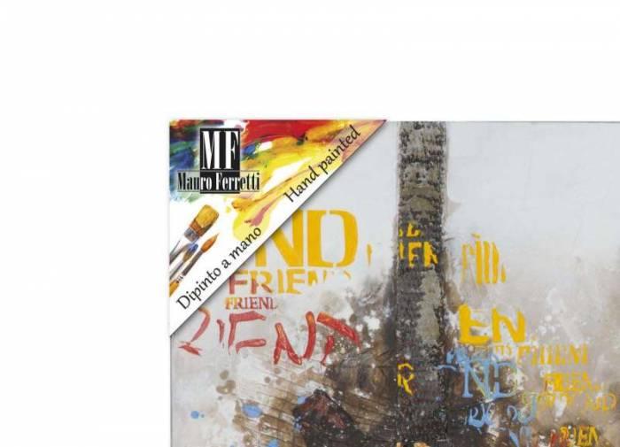 Tablou Guitar Artsy, 90x120x3.5 cm, lemn de pin/ canvas, multicolor