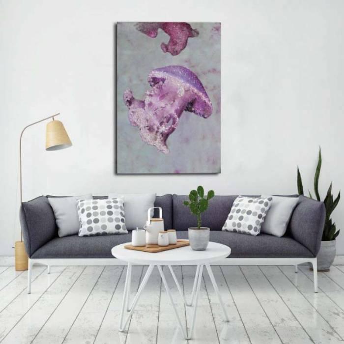 Tablou Medusa, 120x80x3.8 cm, lemn de brad/ canvas, multicolor