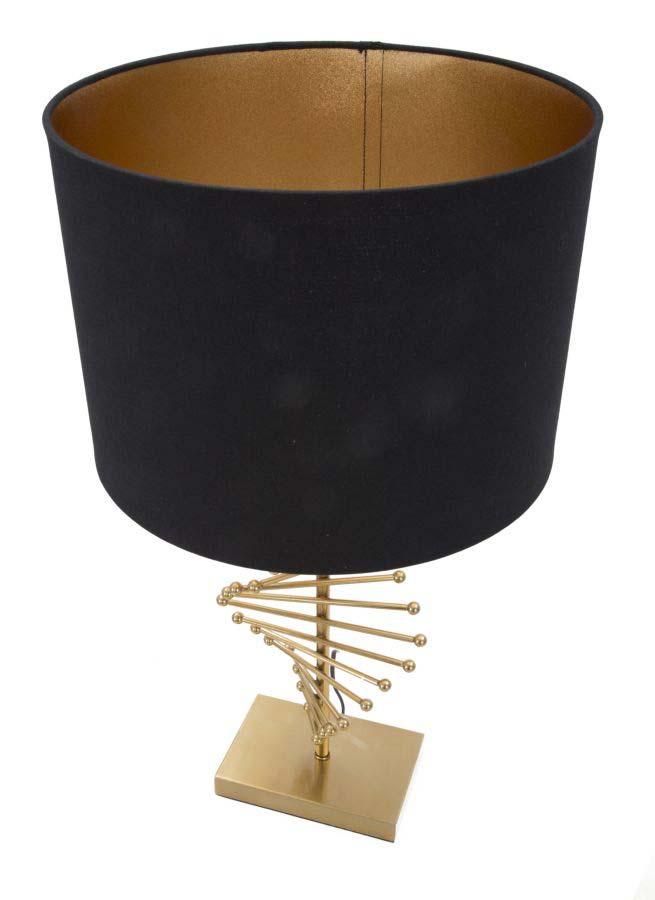 Veioză Glam Sticky, 65x34x34 cm, metal/ plastic/ poliester, negru/ auriu