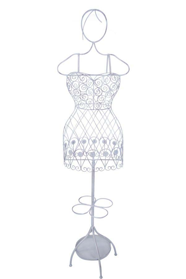 Cuier Bustino, 168x38.5x16 cm, metal,alb poza