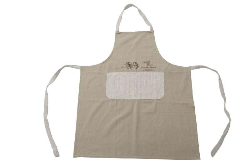 Șorț de bucătărie Belle Fleur, 85x70x0.5 cm, bumbac, maro poza