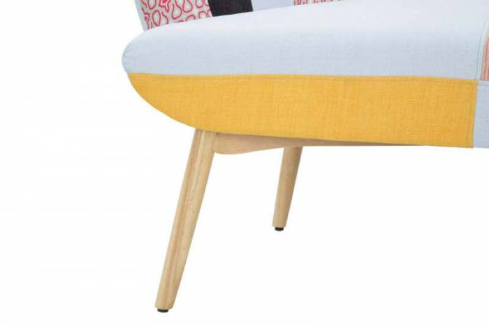 Canapea Birmingham, 102x130x82 cm, lemn/ poliester, multicolor