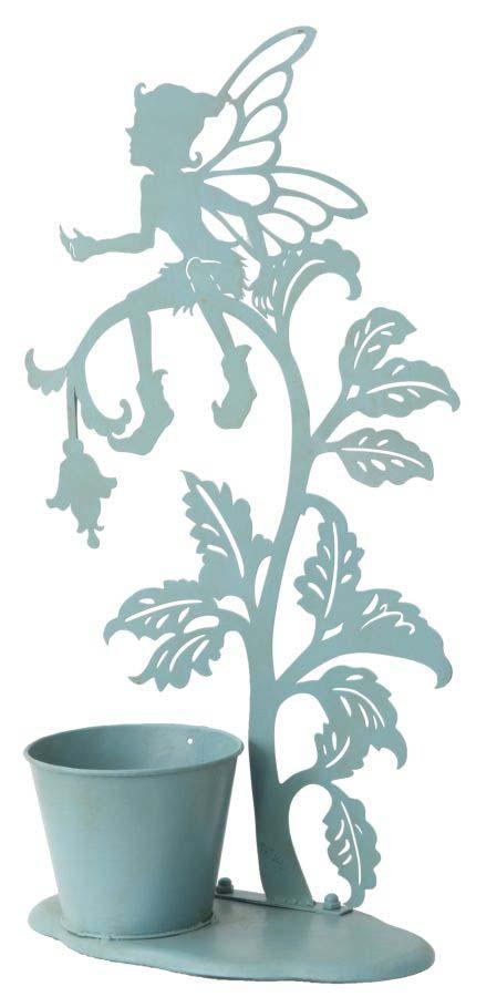 Ghiveci Ela, 52x33x14.7 cm, metal,albastru
