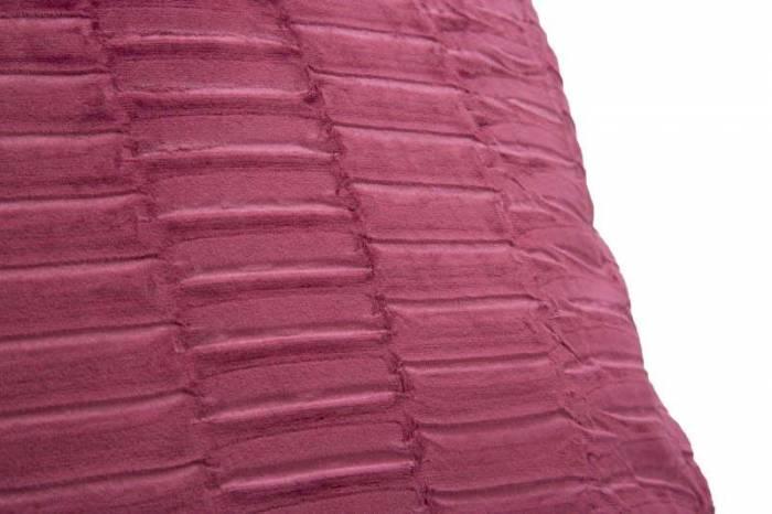 Pernă Bordeaux, 41x41x10 cm, poliester, bordo