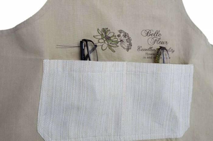 Șorț de bucătărie Belle Fleur, 85x70x0.5 cm, bumbac, maro