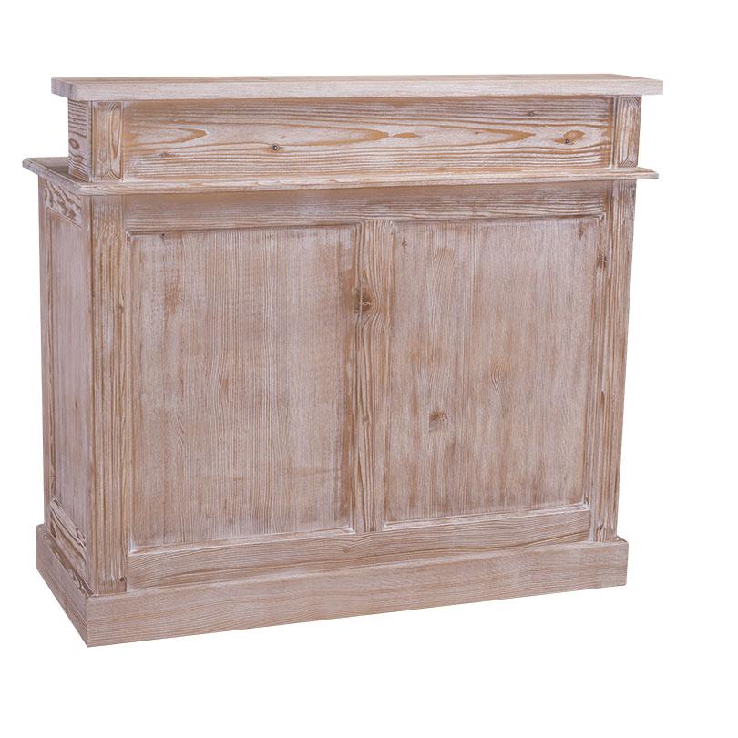 Bar cu două sertare Maryland, lemn masiv poza