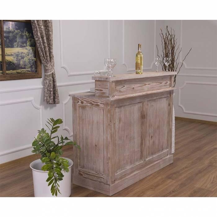 Bar cu două sertare Maryland, lemn masiv