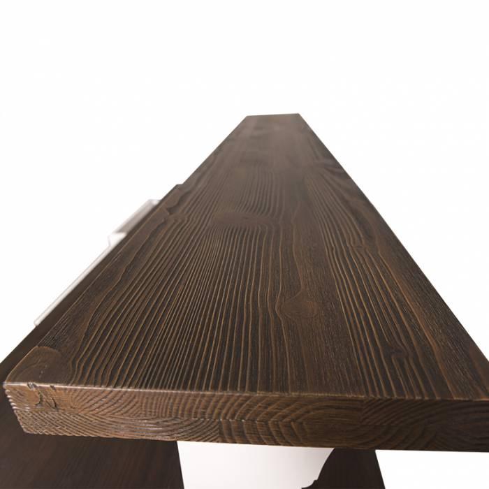 Bar cu trei sertare Chelsea, lemn masiv