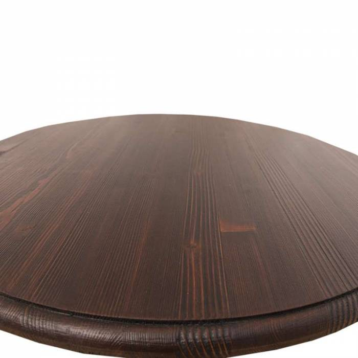 Masă de bar cu blat rotund Grenadier, lemn masiv