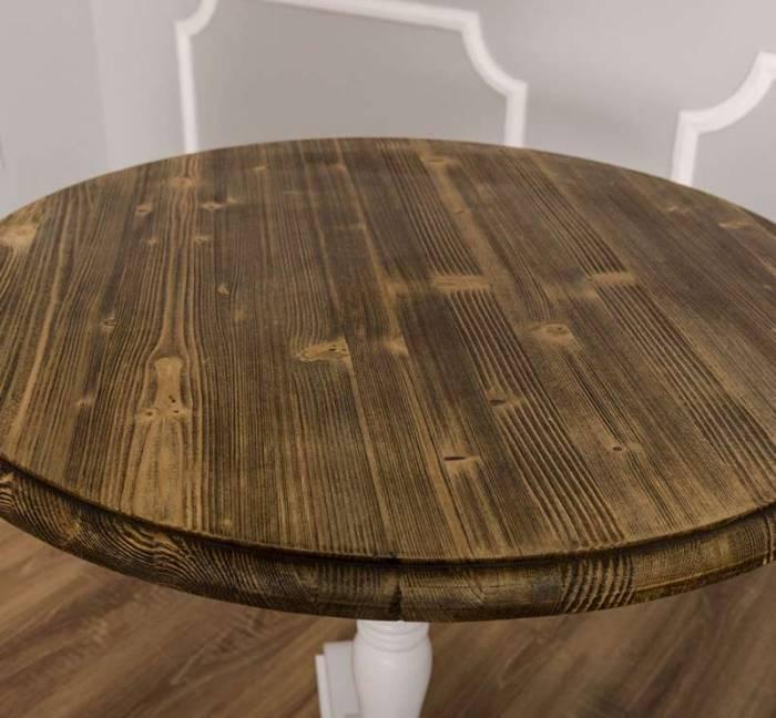 Masă de bar cu blat rotund Hampstead, lemn masiv