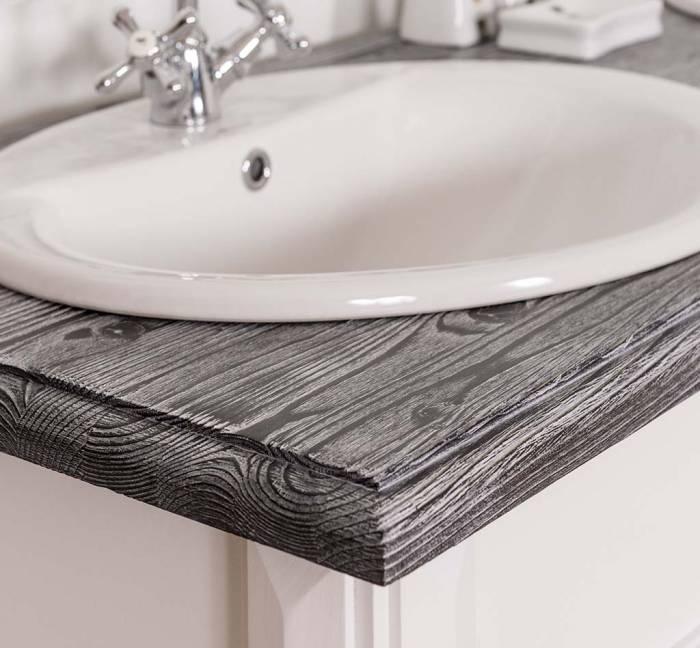 Consolă de baie pentru două lavoare Trocadero, lemn masiv
