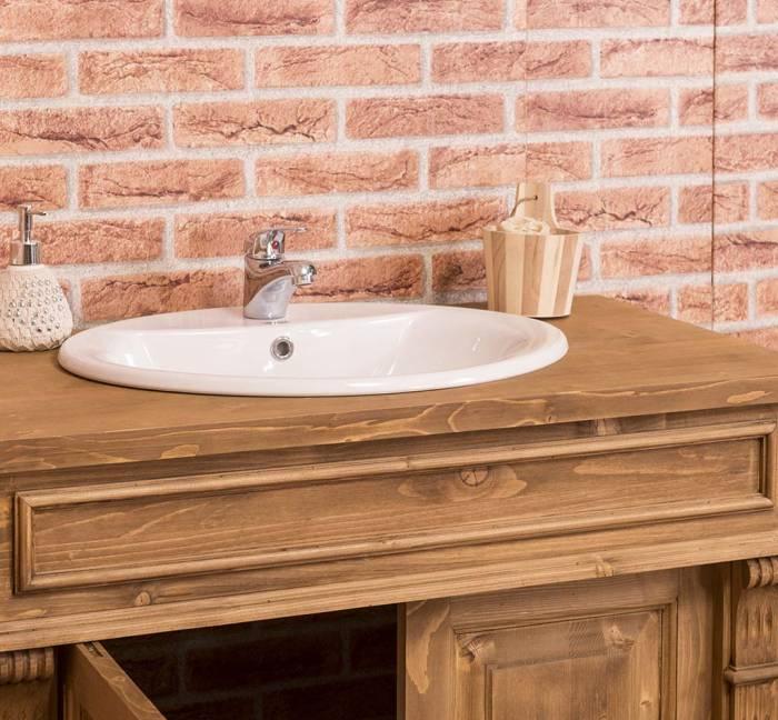 Dulap de baie pentru lavoar Chelsea, lemn masiv