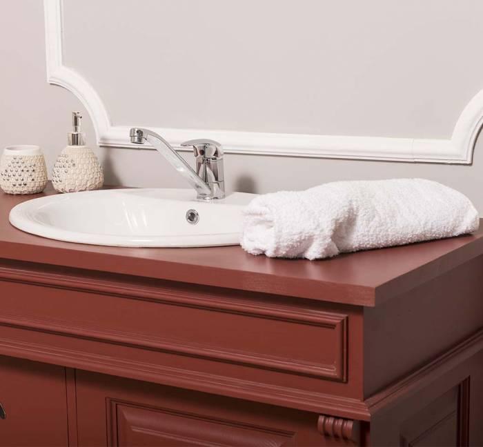 Dulap de baie pentru lavoar Vaduz, lemn masiv