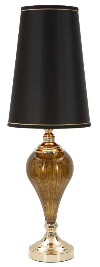 Lampadar Fashion Glam, 81x27x27 cm, meta/ plastic/ poliester, negru/ auriu poza