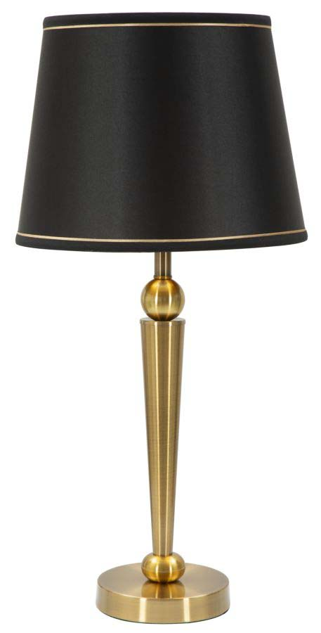 Lampadar Stilo Glam, 65x32x32 cm, meta/ plastic/ poliester, negru/ auriu poza