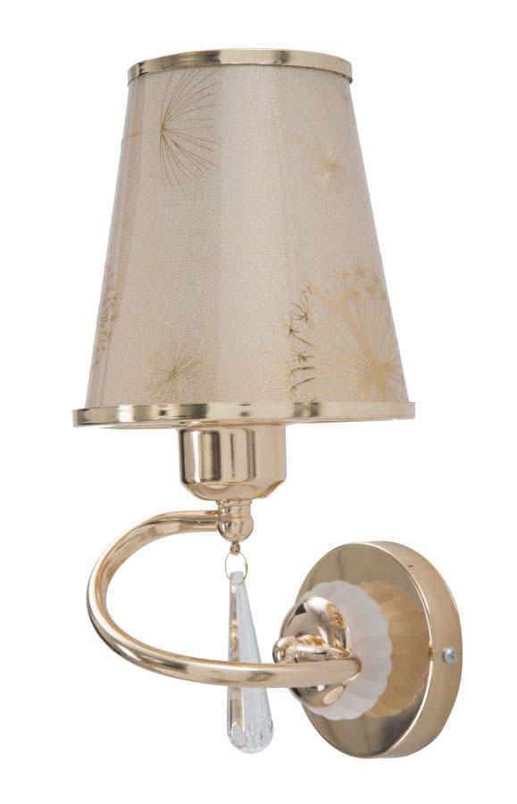 Aplică Glam Ring, 30x13x19 cm, metal/ plastic, auriu