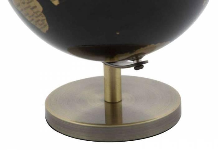 Decorațiune Globe, 17x13x13 cm, plastic/ metal, negru/ bronz