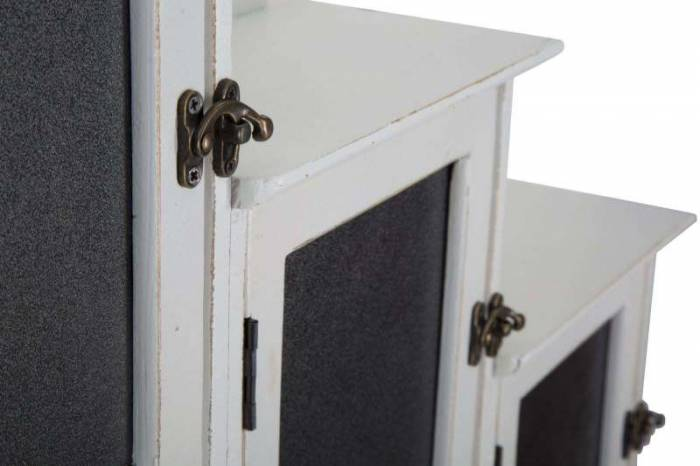 Suport pentru chei Cabin, 70x83x13 cm, lemn, alb/ negru