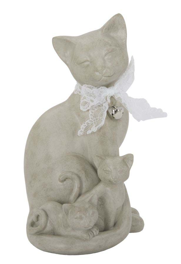 Decorațiune Cat, 20.5x12.5x11 cm, polirasina, alb poza