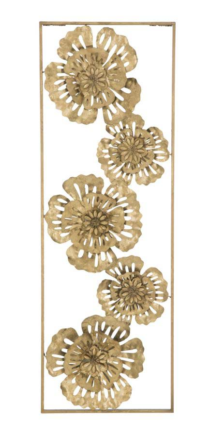 Decorațiune de perete Goldy, 88.5x30.5x3.75 cm, metal, auriu poza