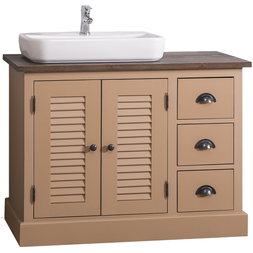 Dulap de baie cu uși și sertare Austral, lemn masiv poza