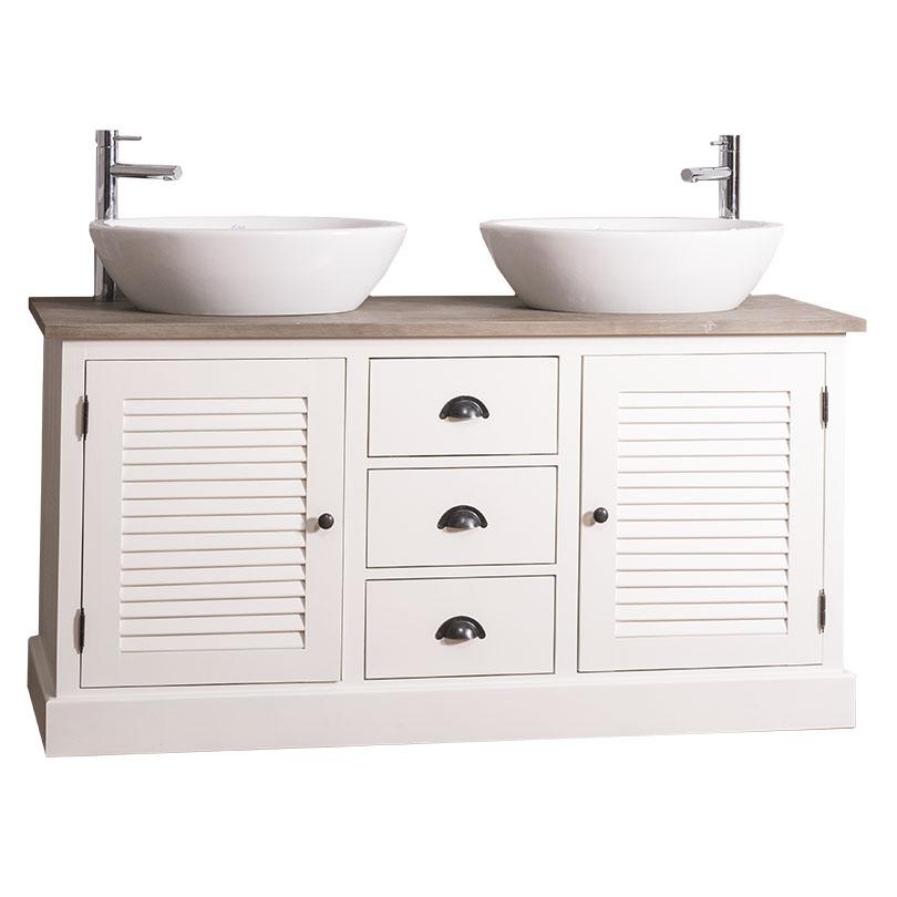 Dulap de baie pentru două lavoare Austral, lemn masiv poza