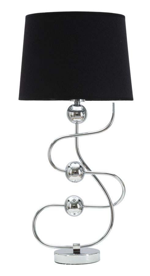 Lampadar Silver Ball, 67x33x33 cm, metal/ pvc/ textil, argintiu/ negru poza