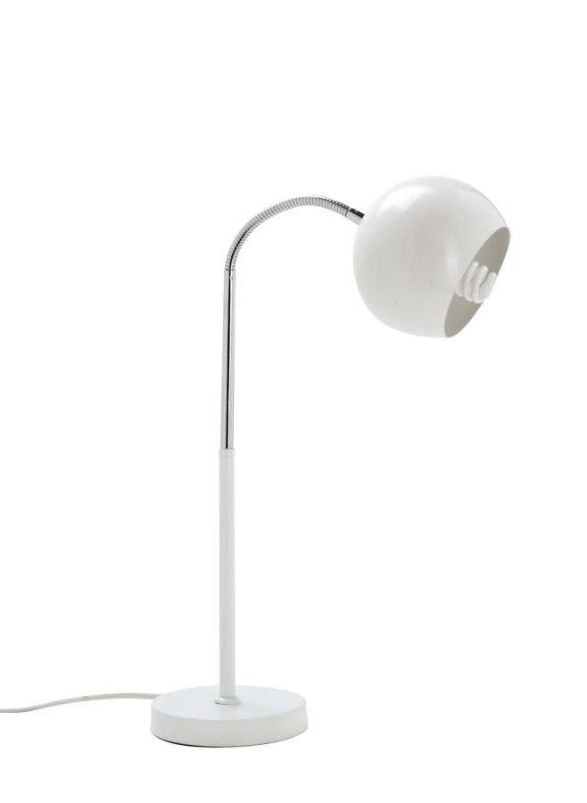 Veioză Ball White, 55x25x14 cm, metal, alb poza
