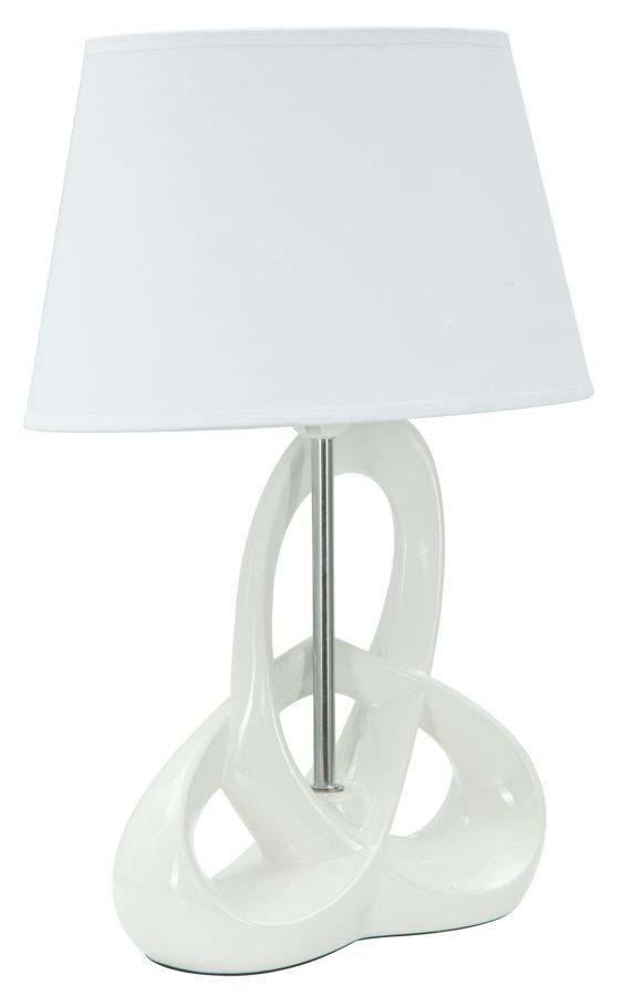 Veioză Fly, 47.5x33x22 cm, ceramica/ metal/ plastic/ poliester, alb