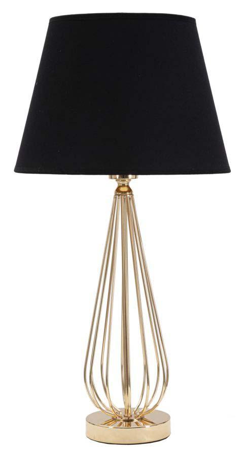 Veioză Ovy, 62x32,5x32,5 cm, metal/ pvc/ textil, auriu/ negru