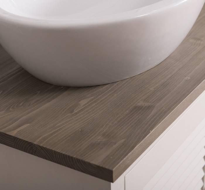 Dulap de baie pentru două lavoare Austral, lemn masiv