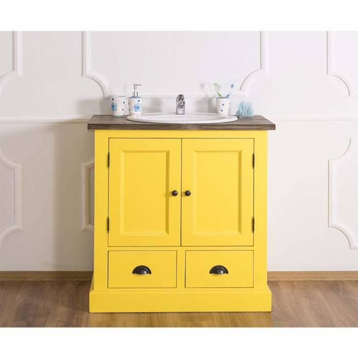 Dulap de baie pentru lavoar Garbo, lemn masiv