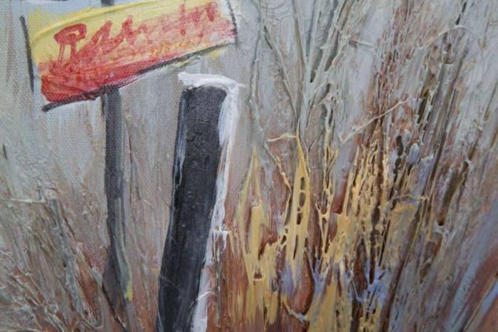 Tablou Beach, 90x30x3 cm, lemn de pin/ canvas, multicolor