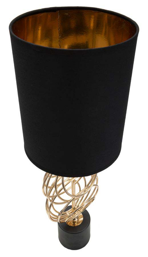 Veioză Circly, 58,5x20x20 cm, metal/ pvc/ textil, auriu/ negru