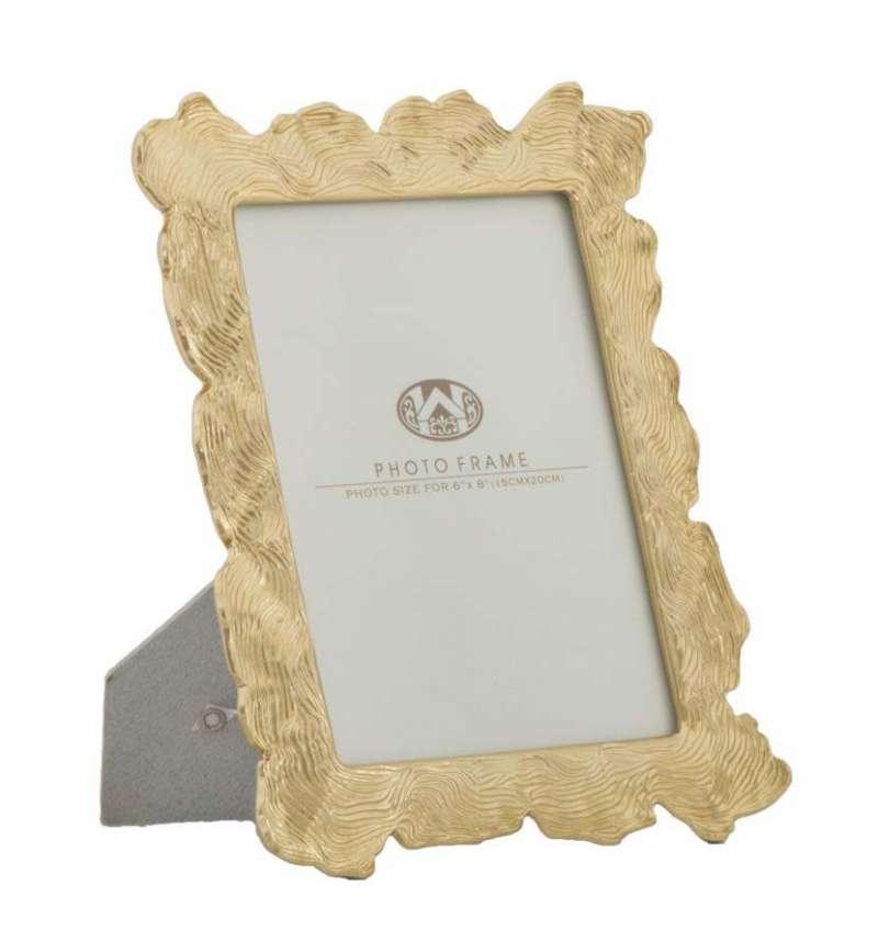 Ramă foto Elegance, 27x21,5x2 cm, polirasina/ sticla, auriu