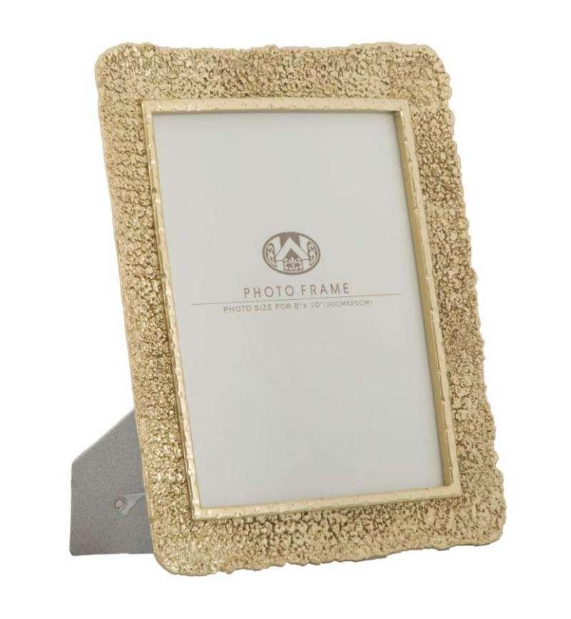 Ramă foto Lora, 32,5x27,5x2,5 cm, polirasina/ sticla, auriu