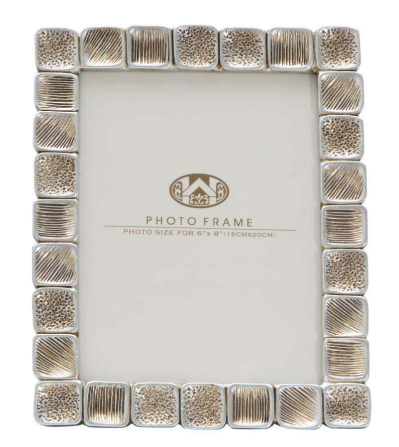 Ramă foto Sindy, 25x19,5x2 cm, polirasina/ sticla, argintiu