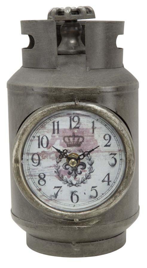 Ceas de masă Beverlee, 26x15x14 cm, metal, gri