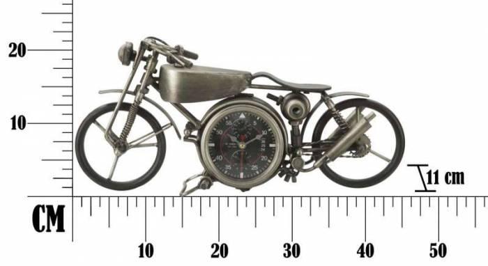 Ceas de masă Bike, 21x44x11 cm, metal/ mdf, argintiu