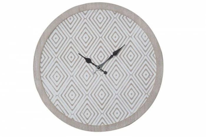Ceas decorativ Belinda, 30x30x2 cm, mdf, alb/ gri