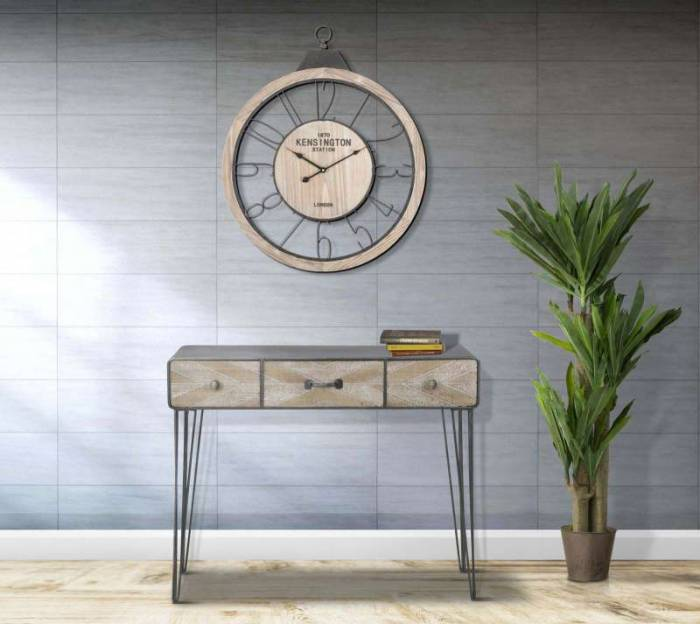 Ceas decorativ Billy, 72x60x4 cm, mdf/ metal, maro