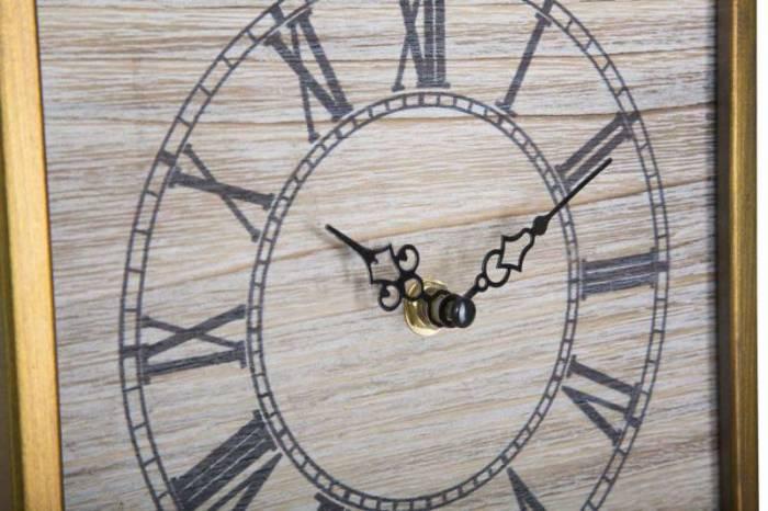 Ceas decorativ Kenia, 100x21,5x5 cm, metal, auriu