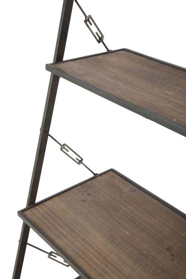 Etajeră Blythe, 180x65x41 cm, mdf/ metal, maro/ negru